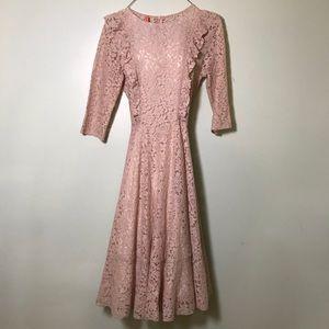 NWOT Mauve lace bridesmaid wedding dress Small